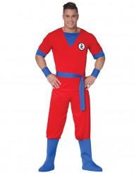 Costume manga rosso adulto