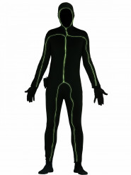 Costume nero luminoso uomo