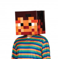 Casco in cartone effetto pixel adulto 30 x 30 cm