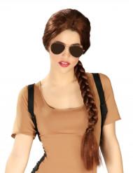 Parrucca treccia avventuriera per donna
