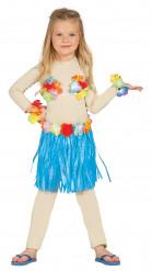 Kit hawaiano blu Bambina