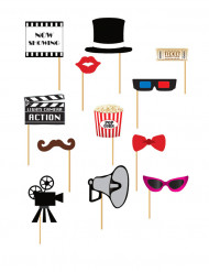 Kit photobooth cinema 12 pezzi