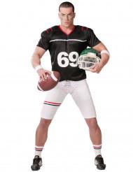 Costume football americano bianco e nero uomo