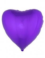 Palloncino alluminio cuore viola