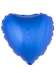 Palloncino alluminio cuore blu