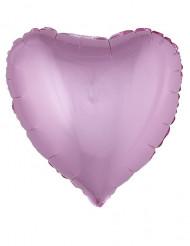 Palloncino in alluminio cuore rosa