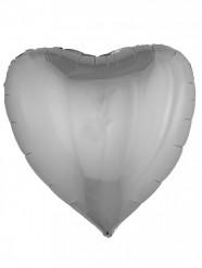 Palloncino in aluminio cuore argentato 76 cm