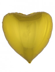 Pallone alluminio cuore dorato 76 cm