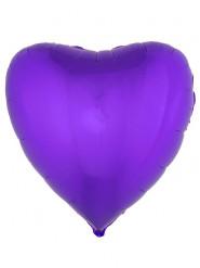 Palloncino di alluminio cuore viola