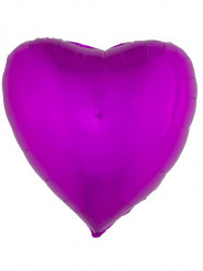 Palloncino in alluminio cuore fucsia