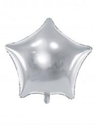 Palloncino in alluminio stella argentata