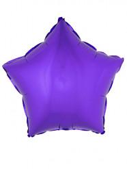 Palloncino in alluminio stella viola