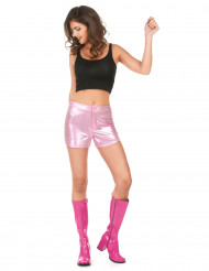 Short disco rosa donna