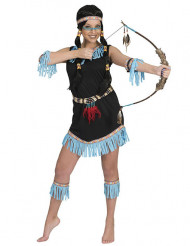 Costume indiana a frange azzurre donna