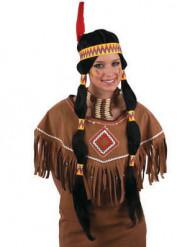 Parrucca lunga nera indiana donna