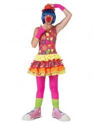 Costume da clown nelle stelle colorato donna