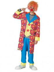 Costume clown nelle stelle colorato uomo