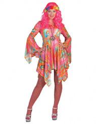 Costume hippie marmorizzato colorato donna