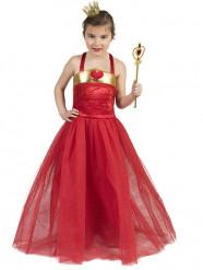 Costume principessa di cuori rosso per bambina