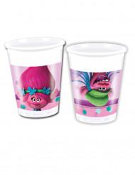8 bicchieri in plastica Trolls™ 20 cl