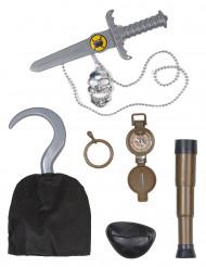 Kit accessori capo dei pirati bambino