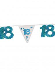 Ghirlanda blu a paillettes 18 anni 6 metri