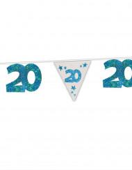 Ghirlanda blu a paillette 20 anni 6m