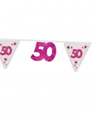 "Ghirlanda rosa ""50"" anni"