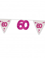 Ghirlanda rosa 60 anni