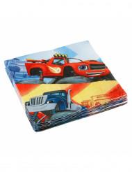 20 Tovaglioli in carta Blaze e le Mega Macchine™ 33 x 33 cm