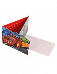8 Cartoncini d'invito Blaze e le mega Macchine™