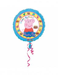 Palloncino alluminio Happy Birthday Peppa Pig™ 43 cm