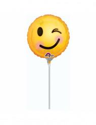 Palloncino alluminio Emoji occhietto 23 cm