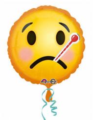 Palloncino alluminio Emoji ammalato 43 cm