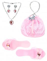 Kit accessori principessa rosa bambina