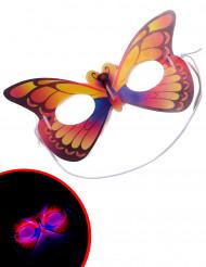 Maschera farfalla fosforescente adulto