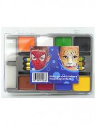 Palette trucchi 8 fards e 6 matite per bambino