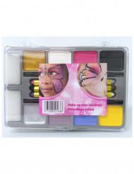 Palette trucchi 8 fards e 6 matite per bambina