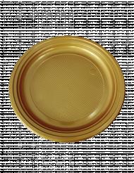50 piattini per dessert oro in plastica