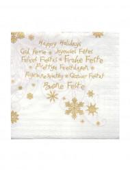 20 tovagliolini di carta Buone feste 24 x 24 cm