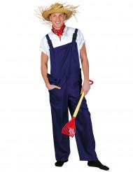 Costume giardiniere blu adulto
