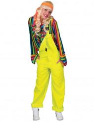 Costume tuta gialla fluo adulto