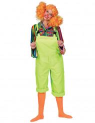 Costume tuta verde fluo adulto