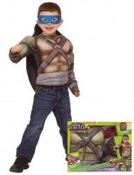 Costume deluxe Tartarughe Ninja™ muscoloso per bambino con cofanetto
