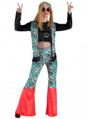 Costume donna hippie psichedelico
