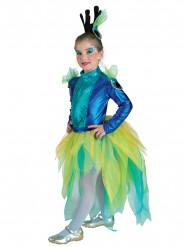 Costume da Regina dei pavoni per bambina