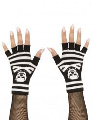 Mezzi guanti teschio adulto