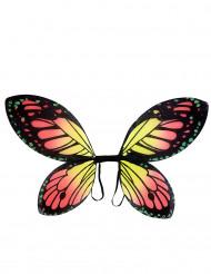 Ali di farfalla colorate ragazza