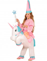 Costume da principessa con unicorno per bambina