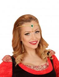 Diadema elfo dorato adulto
